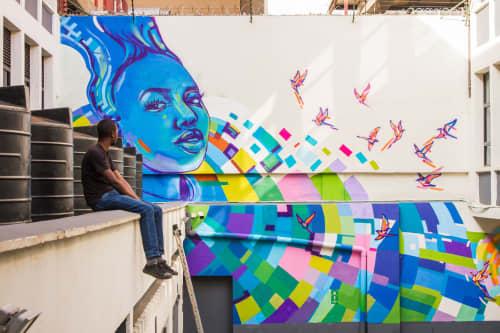 Freefall | Murals by Viktart Mwangi | Caxton House in Nairobi