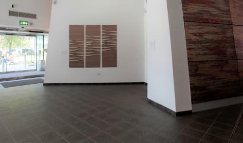 ' Ripples One': Woven Triptych | Art & Wall Decor by Jan Bowman Designs | Aston Business School in Birmingham