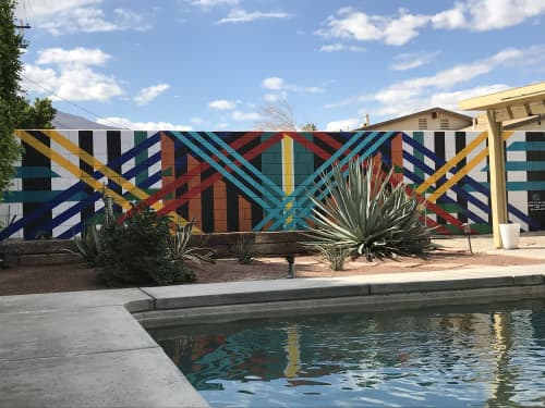 Murals by Ryan Campbell seen at Private Residence, Palm Springs - Sanctuary