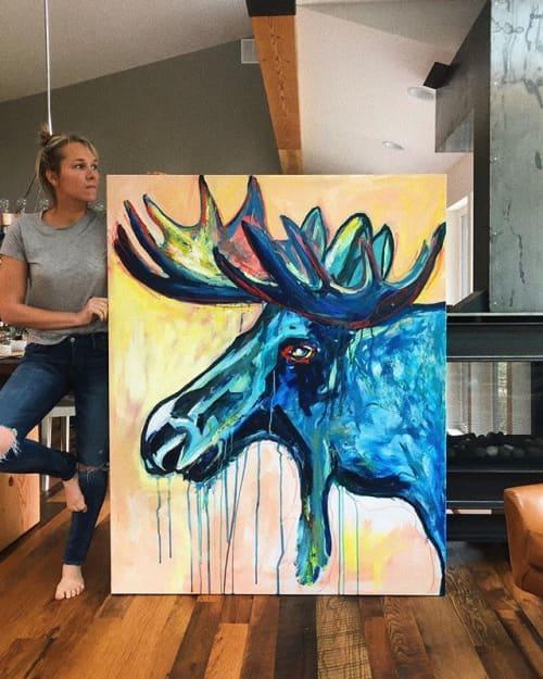 Paintings by Inese Westcott seen at Private Residence, Bellevue - Moose