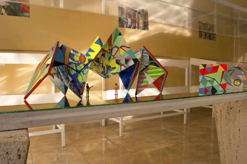 Sculptures by Peter D. Gerakaris Studio seen at Praia, Praia - iSolAIR Solo Show w/ US Embassy Praia Grant