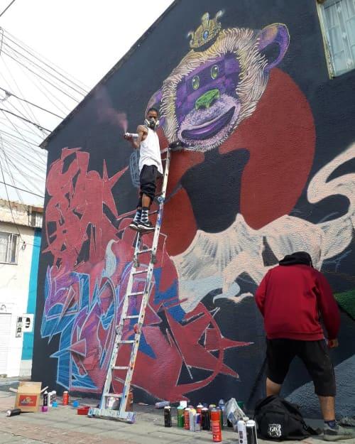 Street Murals by Léo Araújo seen at Private Residence, Bogotá - Surfest Colombia 2019 Mural