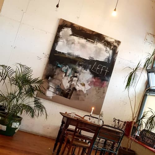 """Paintings by Neil Dunne Studio seen at The Fumbally, Dublin 8 - """"Nothing Left"""""""