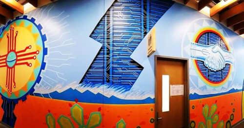Facebook Mural   Murals by Justin Queal   Facebook Data Center - Los Lunas in Los Lunas