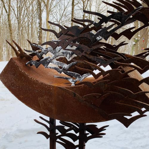Flight | Public Sculptures by Hilde DeBruyne Art & Design LLC