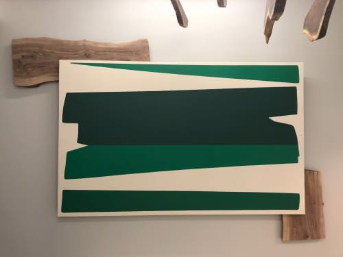 """Paintings by ANTLRE - Hannah Sitzer seen at Google Events Center, Redwood City - """"Forest"""""""
