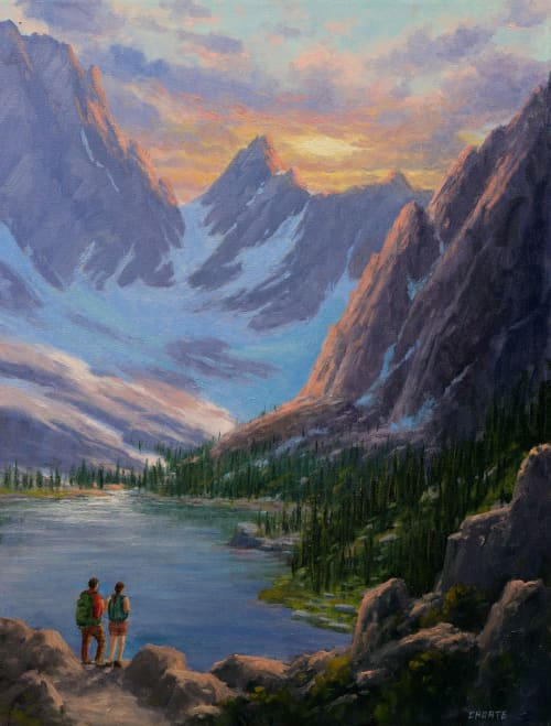 Paintings by Fred Choate Fine Art - Attend Church in Idaho