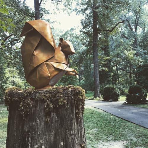 Public Sculptures by KevinBoxStudio. at Memphis Botanic Garden, Memphis - Seed Sower