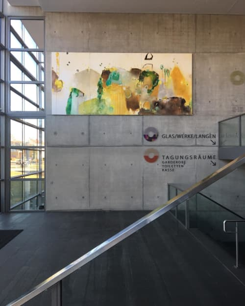 Luminaries and Phenomena   Paintings by Nicola Barth   Stadthalle Langen in Langen (Hessen)