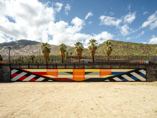 Murals by Ryan Campbell seen at Downtown Palm Springs, Palm Springs - Line Segments Palm Springs