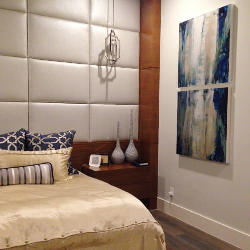 Paintings by Maria Martin seen at Private Residence, Bee Cave - waterfall