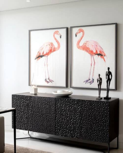 Paintings by Dave White seen at Private Residence, Faro - Flamingo