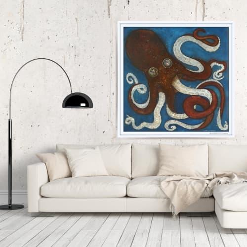 Art & Wall Decor by Seth B Minkin Fine Art at Seth B Minkin Studio + Showroom, Boston - Kracken | Limited Edition Print | Multiple Sizes Available