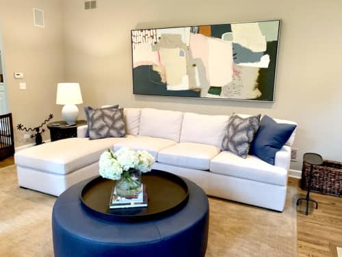 Paintings by Glenna Adkins seen at Private Residence, Kenilworth - Abstract Painting