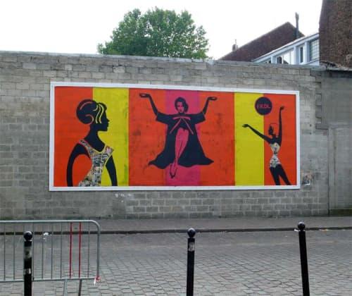 Street Murals by Franck Duval seen at Passage Hébrard, Paris - Roubaix BIAM 2013