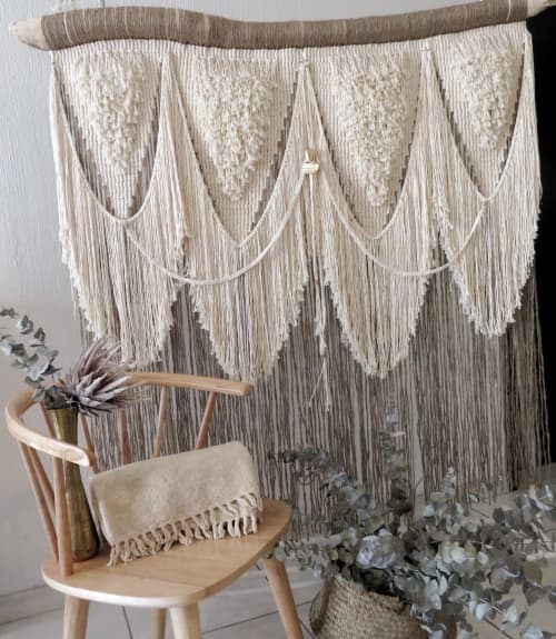 Macrame Wall Hanging by LIDXI Decoracion (by Nadxieelli Suastegui G.) seen at Private Residence, Guadalajara - XQUENDA (Origin in Zapotec dialect)