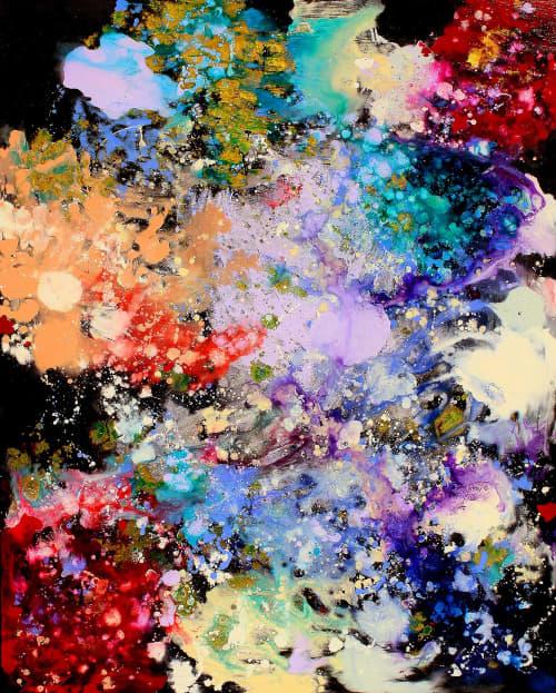 Interstellar Rainbow I   Paintings by Meredith Pardue
