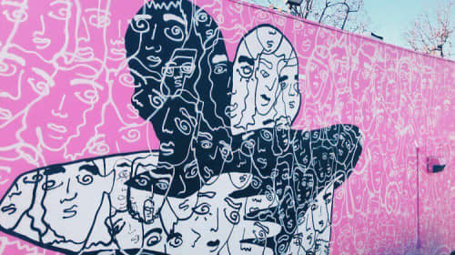 Wall Mural   Street Murals by Davia King   Subway in Santa Monica