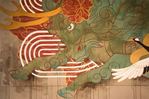 Asian Restaurant Mural: Interior Drywall   Murals by JUURI   Hawkers Asian Street Fare in Orlando