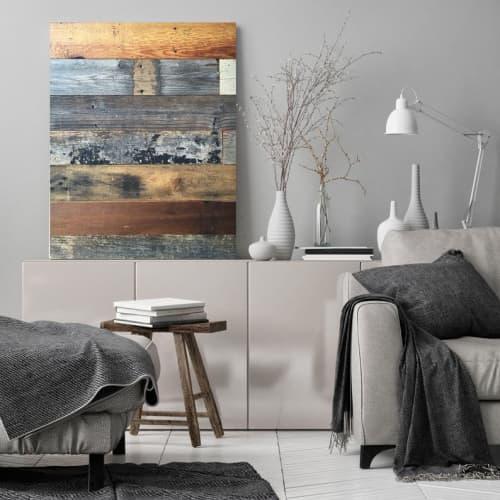 Rustic barn wood Canvas Art Print   Paintings by Irena Orlov