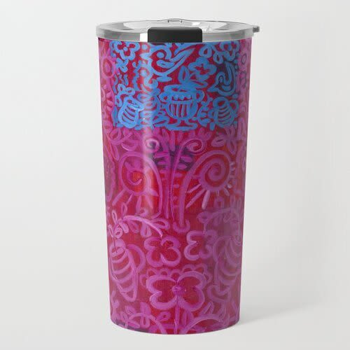 Egyptian Maroon Trv.Mug   Cups by Pam (Pamela) Smilow