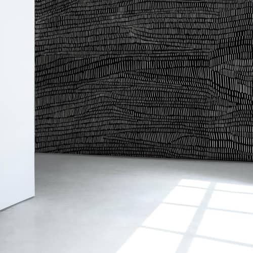 Wallpaper by Jill Malek Wallpaper - Terrains | Coal