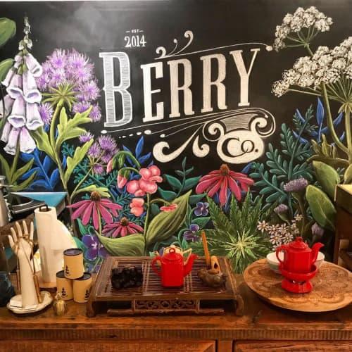 Floral Mural | Murals by Kara Bella Art | Berry and Co. in Sag Harbor