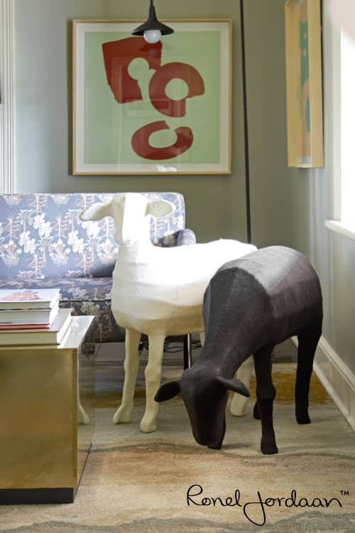 Felted Sheep | Sculptures by Ronel Jordaan | Robertson Small Hotel, WC, South Africa in Robertson
