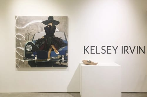 Paris, She Said   Paintings by Kelsey Irvin   exhibit by aberson in Tulsa