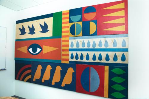 "Art & Wall Decor by ANTLRE - Hannah Sitzer seen at Google Events Center, Redwood City - ""Birds Eye"""