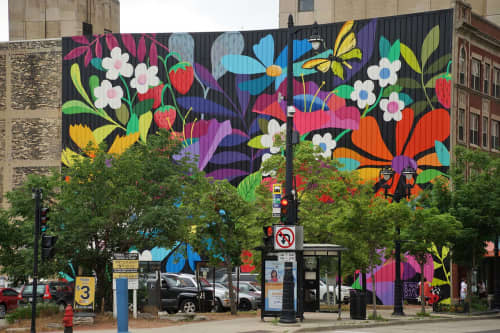 Murals by Emma Daisy at Dunkin', Milwaukee - WESTOWN IN BLOOM