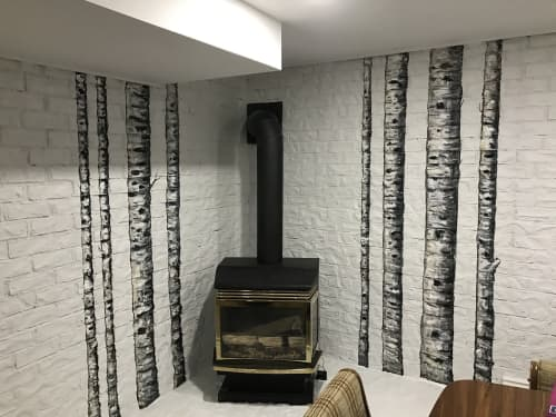 Birch Trees Mural | Murals by Murals By Marg