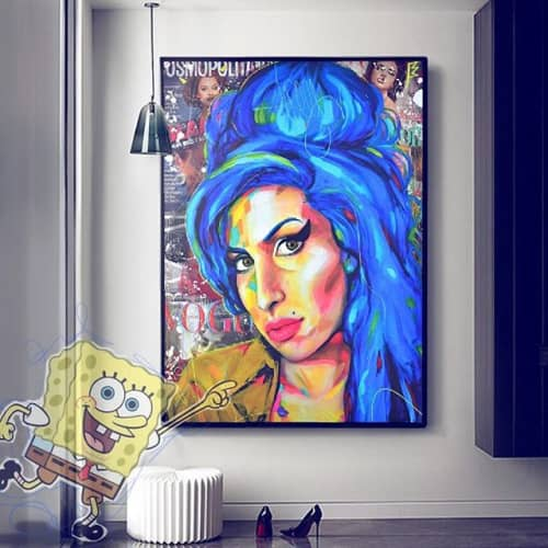 Paintings by Cross Magri seen at Private Residence, Alicante - Amy winehause
