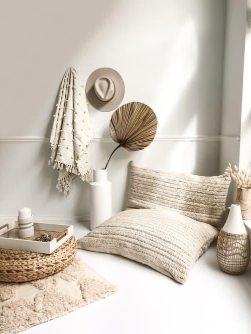 Hand Crafted Moroccan Bean Bag   Pillows by Coastal Boho Studio
