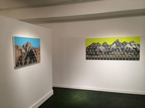 Paintings by David Pirrie at Diehl Gallery, Jackson - Mapping The Tetons