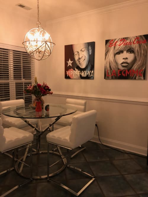 Paintings by Elliott Mattice Art & Design seen at Private Residence - Icon Portraits for client