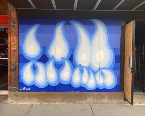 Konnexion Mural | Murals by Ali Hval | The Konnexion in Iowa City