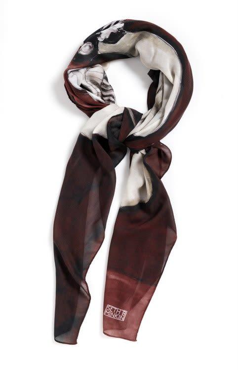 "Apparel & Accessories by Seth B Minkin Fine Art at Seth B Minkin Studio + Showroom, Boston - Sumo | Square Scarf | 54"" x 54"" | 85% modal . 15% cashmere . 100% original"