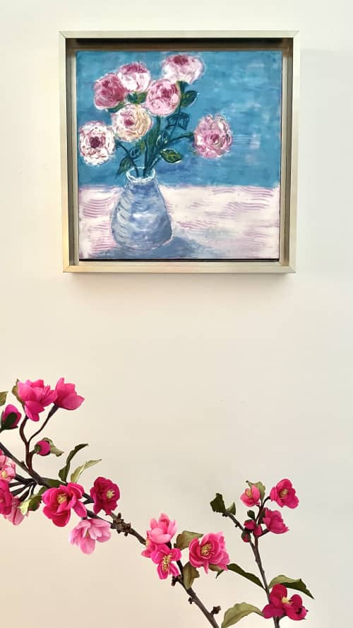 Paintings by willa vennema seen at Private Residence, Portland - Pink Roses