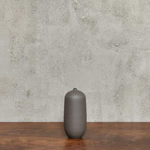 Vases & Vessels by Luke Eastop seen at Blue Mountain School, London - Black Small Bottle Vessel