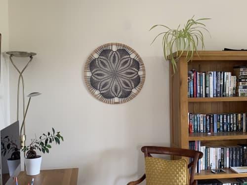 Wall Hangings by Woolly Fingers seen at Private Residence, Bishampton - Crochet wall mandala