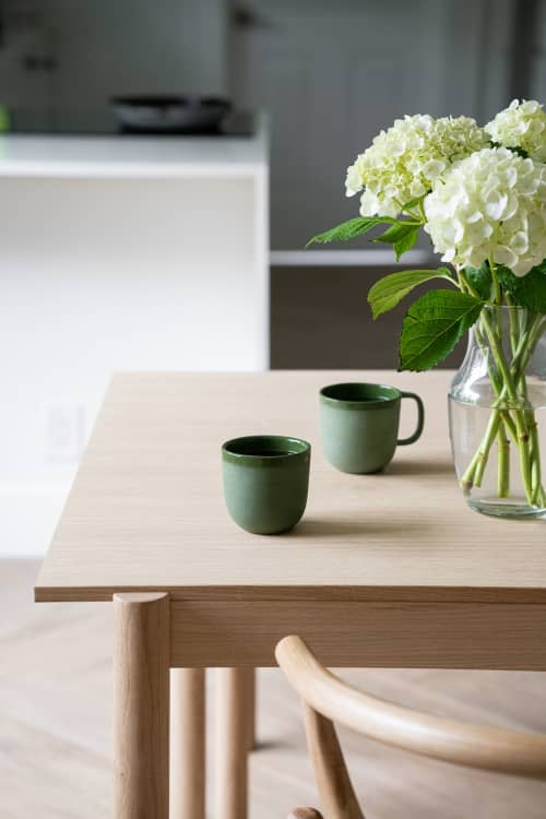 HANDMADE PORCELAIN COFFEE CUP. GREEN | Cups by Creating Comfort Lab | Miami in Miami