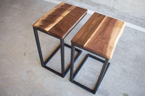 Live-Edge Walnut C-Tables   Tables by Hazel Oak Farms