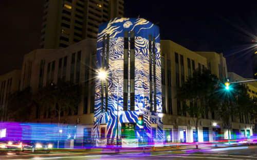 Rethink San Diego Downtown Mural   Murals by David Peña