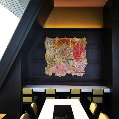 Aerial mapping wall art   Art & Wall Decor by Lyndi Sales   Hotel Cambodiana in Phnom Penh
