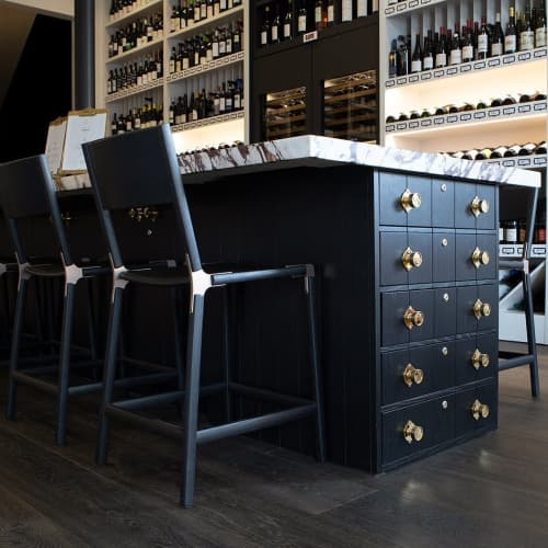 Linden Counter Stool | Chairs by Fyrn | Verve Wine in San Francisco