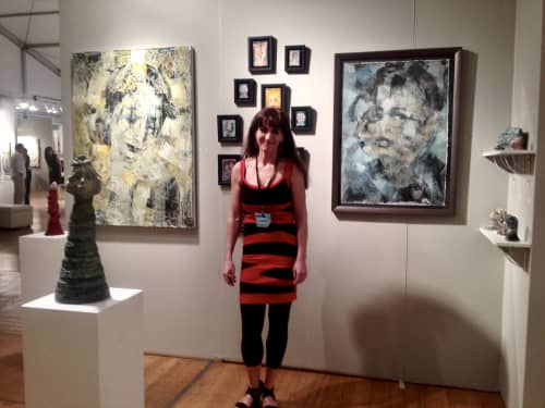 Miami Art Fair  -showing sculpture and Paintings | Paintings by Corinna Button | ArtSpot Miami in Miami
