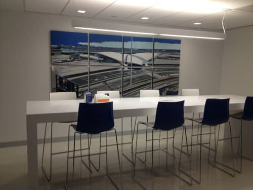 Paintings by Jeremy Wagner Studio seen at 27-01 Queens Plaza N, Queens - Commissioned painting for JetBlue Headquarters New York, NY