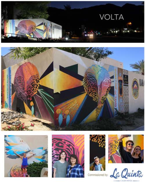 Murals by John Cuevas seen at 78275 Calle Tampico, La Quinta - Volta