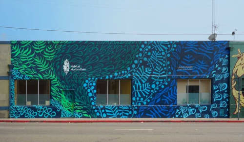 Murals by Joey Rose at Habitat Horticulture, Berkeley - HABITAT